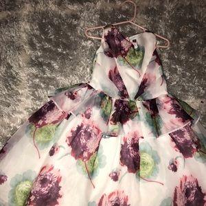 Little girl organza flower dress